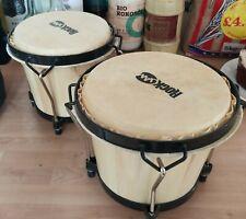"Rockjam 7"" / 8"" Bongo Drums with Padded Bag - Natural - unused"