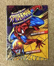 1995 MARVEL FLEER ULTRA SPIDER-MAN 4 PAGE SELL SHEET DEALER AD CHECKLIST RARE