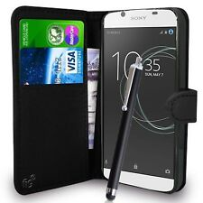 Black Wallet Case PU Leather Book Cover For Sony Xperia L1 Mobile Phone