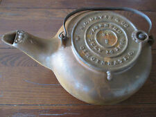 Old Antique 1868 Cast Iron #8 Tea Pot Kettle W.C. Davis & Co. Cincinnati OH