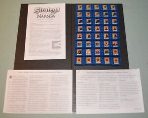 Stratego Chronicles of Narnia Game 2005 40 Blue Army pieces Instructions  #STRNB