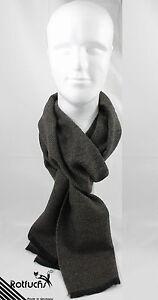Schal Webschal Uni modisch braun schwarz 100% Wolle (Merino)