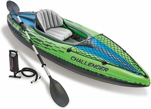 NEW - Intex Challenger Kayak Inflatable Set with Aluminum Oars