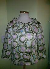 R.e.d. Valentino jacket sz 46 NWOT sage, aqua , lilac, excellent condition!