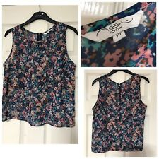 New Look Summer Floral Vest Women Size 10 Sleeveless (B322)
