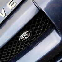 Land Rover Freelander 1 BLACK+SILVER oval front grille badge upgrade kit genuine