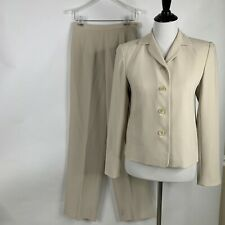 Ann Taylor Women's 2-Pc Pants Suit Pants Size 4 Jacket Size 2 Cream Lined