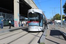 PHOTO  FRANCE TRAMS MARSEILLE ARENC LE SILO ROUTE T3 CAR AT PLATFORM