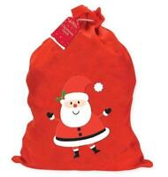 Large Christmas Santa Sack Xmas Felt Gift Present Stocking Bag Filler 60 x 50cm