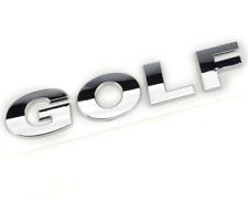 Sticker logo GOLF / emblème/insigne VW - GOLF 4 - 5 - 6 - 7 3D CHROME