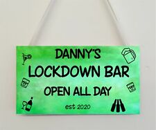 Personalised Lockdown Bar Funny Novelty Bar Signs Home Decoration Man Cave Gifts