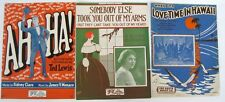 3 Politzer Cover Art 1 Vintage Sheet Music Song Sheets 920's Inset Photos
