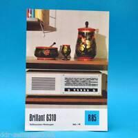 Brillante 6310 Volltransistor-Heims. 1971 Folleto Publicidad Dewag