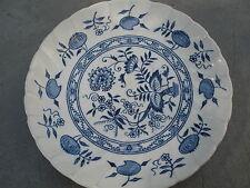 Old Vienna Ironstone Wood & Sons Burslem England Saucer Vintage Blue Onion