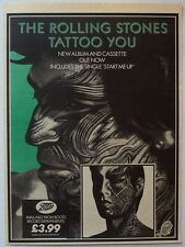THE ROLLING STONES 1981 Poster Ad TATTOO YOU keith richards