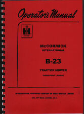 "McCormick International ""B-23"" Tractor Mower Operator Manual Book"