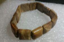 STRETCH bracelet  Square shaped natural stones on elastic