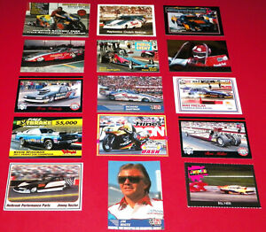 """15"" DIFFERENT RARE VINTAGE DRAG RACING TRADING CARDS IN VERY GOOD CONDITION!!!"
