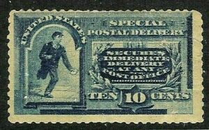 [SD]  US #E2 1885 Mint-OG 10c Blue ~ First Special Delivery Issue...CV = $500