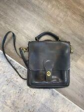 Coach Vintage 90's Wills Station Black Leather Turn Lock Crossbody Bag