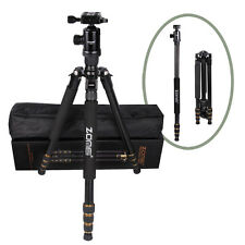 Zomei Z668 2-in-1 Pro DSLR Camera Magnesium Alloy Tripod Monopod + Ball Head