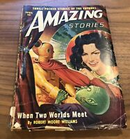 Amazing Stories Pulp Magazine April 1950 Volume 24 #4 Robert Moore Williams