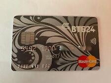 VTB24 Bank Russia Mastercard Platinum Credit Card used RARE