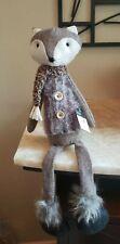 New Debi Lilly Fancy Fox Decoration Plush Fuzzy Brown Scarf Kids Friends Gift
