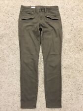 """GAP 1969 ALWAYS SKINNY Olive Ankle JEANS size 27/4t Tall  (Inseam 31.5"""")   F88"""