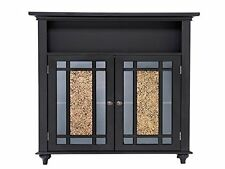 Elegant Home Fashions Windsor Double Door Floor Cabinet Dark Espresso Elg-534