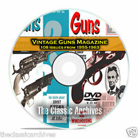 Guns Magazine, 108 Vintage Issues, 1955-1963, Reloading, Hunting Mag DVD CD C07