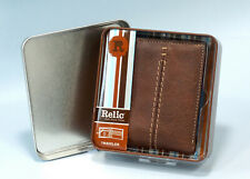 Men's Wallet Brown Relic Channel Traveler, Lots of Storage, Orig Box Never Used