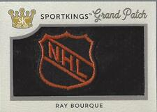 2018 Sportkings Grand Patches #SPV1RB4 Ray Bourque Patch /1 - NM-MT