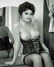 Vintage Pin Up Sexy Hot Sohia Loren Lingerie 8 x 10