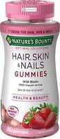 Nature's Bounty Optimal Solutions Hair, Skin, Nails, 80 Gummies