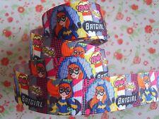 1M x DC Super Hero Girls BATGIRL GROSGRAIN RIBBON Craft Hair Bows 22MM  *UK*