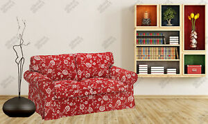 Ikea UPPLAND Cover for loveseat 2 seat COVER ONLY, virestad red/white - NEW