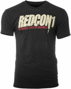 Redcon1 T-Shirt Total War Big Noise Black T-Shirt Team Veteran Body Builder SWAG