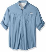 Columbia Men's Tamiami Omni-Shade PFG Blue Long Sleeve UPF 40 Fishing Shirt 3XL