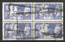 GREAT BRITAIN KG VI 1950 10/- 'ST GEORGE & DRAGON' BLOCK OF 4 (JF-F)