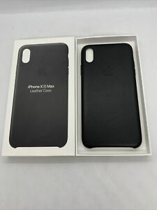 Official Genuine Apple iPhone Xs Max Leather Case Black Back Cover Original