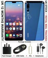 Huawei P20 Pro 128GB 6GB RAM (Unlocked) Blue Single SIM - Grade A