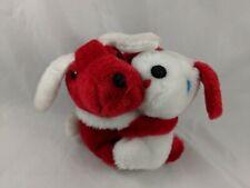 "Fun World Red White Dog Plush Hugging Puppy 5"" Korea Stuffed Animal"