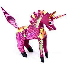 Handmade Alebrijes Oaxacan Wood Carved Painted Folk Art Unicorn Horse Figurine