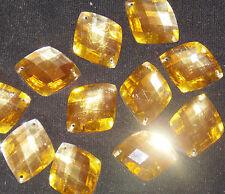 gold Sew On Stitch  Bead JEWEL GEM CRYSTAL RHINESTONE Bead Crystal DANCE