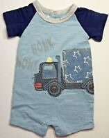 Mud Pie Boys 0-6 Months Blue Truck Shorts Romper
