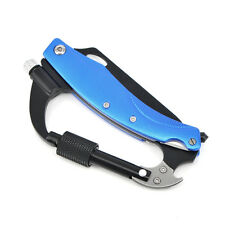 Blue Climbing Carabiner Tool Outdoor survival professional multi-purpose tools