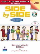 Side by Side 2 Activity Test Prep Workbook w/Answer Key & CDs