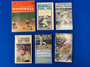 Mickey Mantle Paperback Books (6) 1960 – 1971