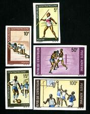Central African Republic Stamps # 113-8 VF Imperf OG NH